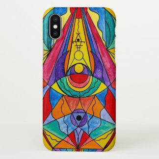 """Capa Para iPhone X De """"caso lustroso do iPhone X da grade da"""