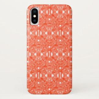 Capa Para iPhone X ~ de creme alaranjado Knotty