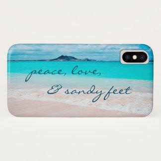 """Capa Para iPhone X De """"Os pés Sandy"""" citam a foto azul do oceano & do"""