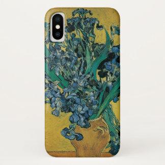 Capa Para iPhone X De Van Gogh das belas artes vida ainda com as íris