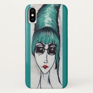 Capa Para iPhone X Desenho Sassy do pop art da colmeia do monstro da