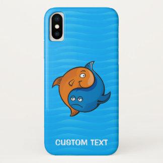 Capa Para iPhone X Desenhos animados dos peixes de Yin Yang
