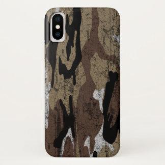 Capa Para iPhone X Deserto afligido Camo