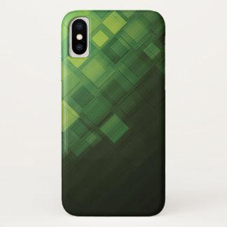 Capa Para iPhone X Design abstrato verde da tecnologia