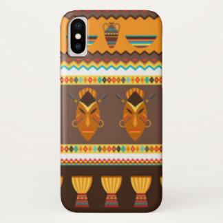 Capa Para iPhone X Design africano do impressão do teste padrão do