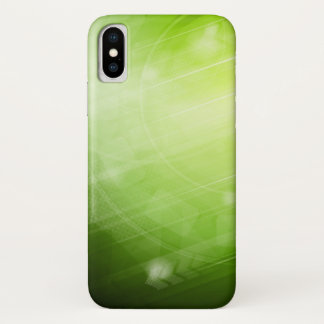 Capa Para iPhone X Design da luz verde no estilo da olá!-tecnologia