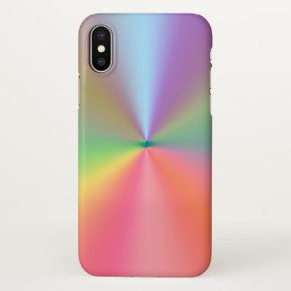 Capa Para iPhone X design das cores do arco-íris