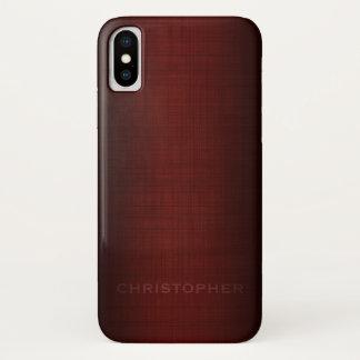 Capa Para iPhone X Design executivo viril com nome para homens
