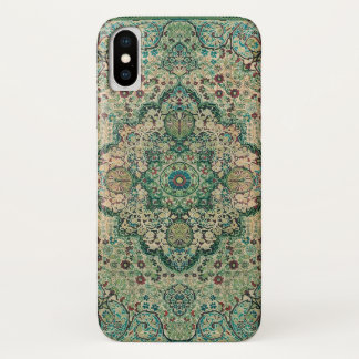 Capa Para iPhone X Design floral a motor do vintage do tapete persa