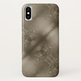 Capa Para iPhone X Design floral do Sepia
