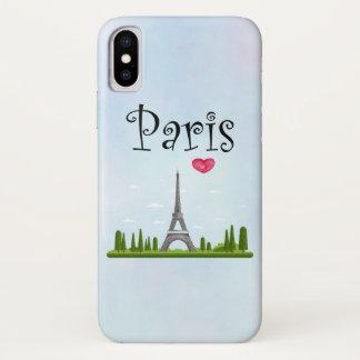 Capa Para iPhone X Design francês - torre Eiffel em Paris