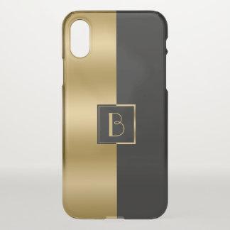 Capa Para iPhone X Design geométrico 2a do ouro moderno & da listra