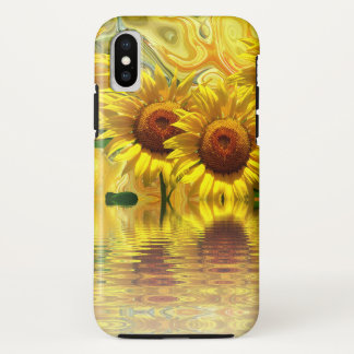 Capa Para iPhone X Design impressionante do girassol
