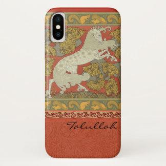 Capa Para iPhone X Design medieval dos cavalos