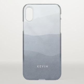 Capa Para iPhone X Design moderno tranquilo da gradação das cinzas &
