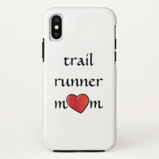 Capa Para iPhone X Design vermelho do coração da mamã do corredor da