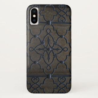 Capa Para iPhone X deta arquitectónico do metal do vintage da grade