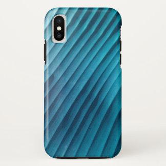 Capa Para iPhone X Diagonal azul da folha