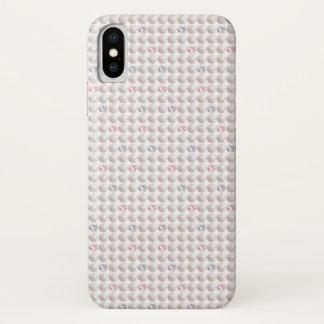 Capa Para iPhone X Diamante cor-de-rosa da pérola