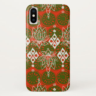 Capa Para iPhone X diamante dos lótus festivo