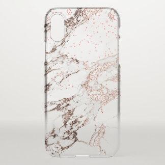 Capa Para iPhone X Do abstrato cor-de-rosa do ouro do mármore Lux