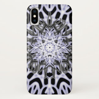 Capa Para iPhone X ~ do laço do leopardo de neve