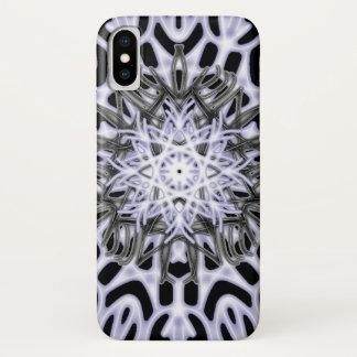 Capa Para iPhone X ~ do laço do leopardo de neve