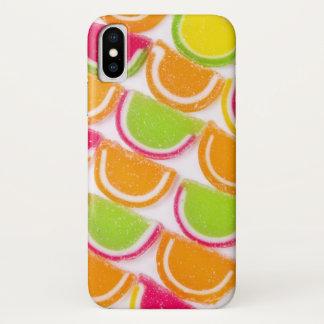 Capa Para iPhone X Doces diferentes coloridos da geléia