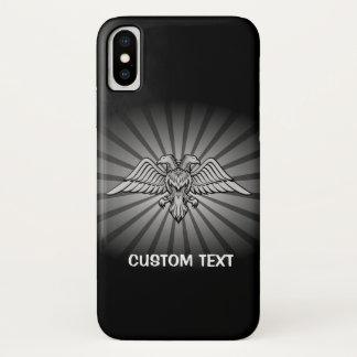 Capa Para iPhone X Dois dirigiram Eagle