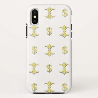Capa Para iPhone X Dólar Bling do ouro de Hip Hop real