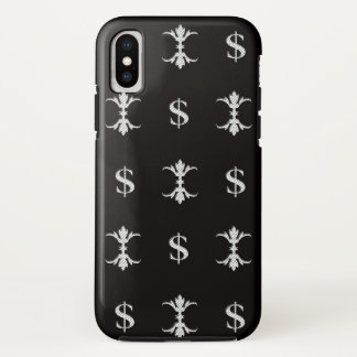 Capa Para iPhone X Dólar de prata Bling de Hip Hop real