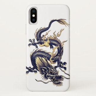 Capa Para iPhone X Dragão chinês