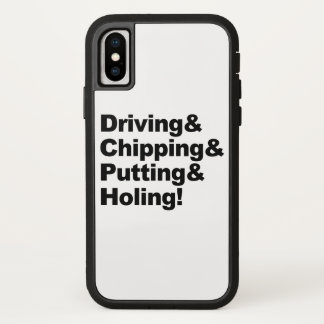 Capa Para iPhone X Driving&Chipping&Putting&Holing (preto)