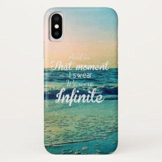 Capa Para iPhone X E nesse momento, eu juro que nós éramos infinitos