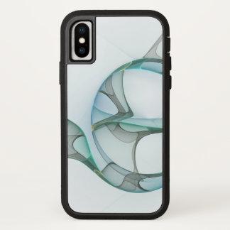 Capa Para iPhone X Elegância azul do abstrato das cinzas de turquesa