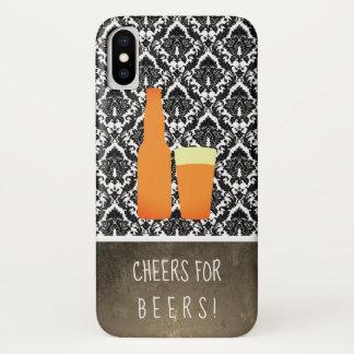 Capa Para iPhone X Elogios para cervejas/damasco