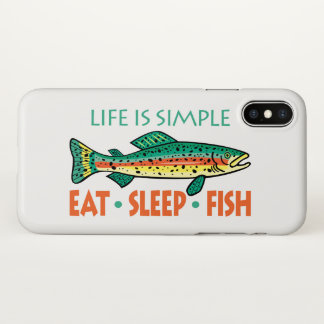 Capa Para iPhone X Engraçado coma peixes do sono