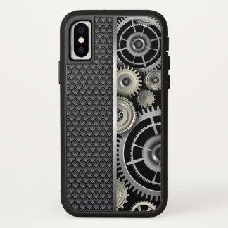 Capa Para iPhone X Engrenagens da engenharia mecânica e teste padrão