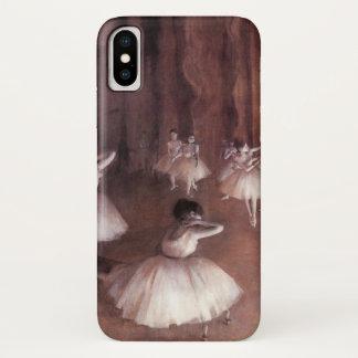 Capa Para iPhone X Ensaio do balé no palco por Edgar Degas