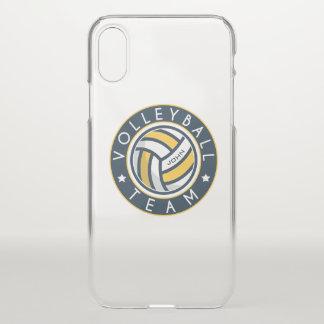 Capa Para iPhone X Equipe do voleibol. Nome feito sob encomenda do