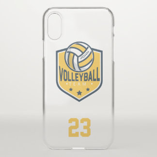 Capa Para iPhone X Equipe do voleibol. Nome & número feitos sob