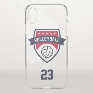Capa Para iPhone X Equipe do voleibol. Número feito sob encomenda do