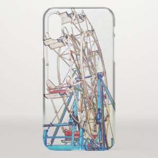 Capa Para iPhone X Esboço do Roda-Giz de Ferris por Shirley Taylor