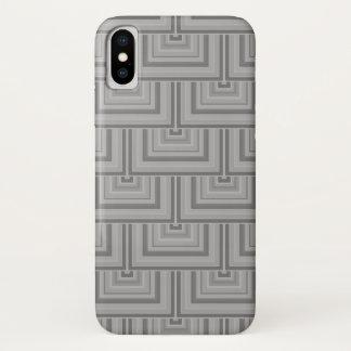 Capa Para iPhone X Escalas cinzentas do quadrado