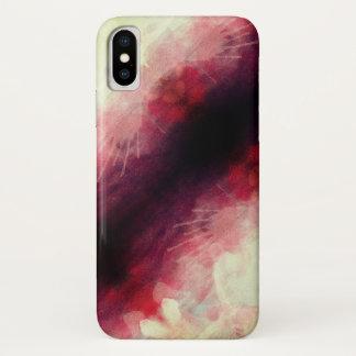 Capa Para iPhone X Escuro - vermelho e respingo do creme