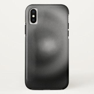Capa Para iPhone X Espiral da partícula de B&W - caso do iPhone X de