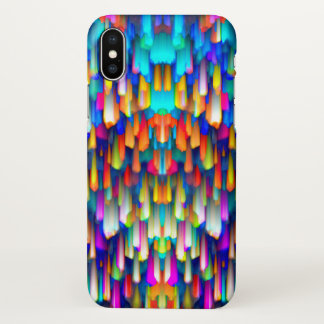Capa Para iPhone X espirro digital colorido da arte do caso do iPhone