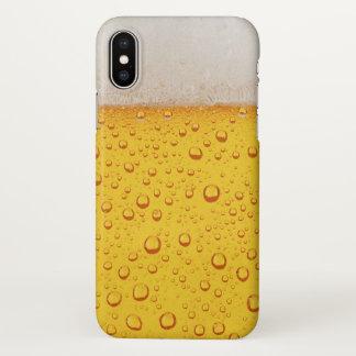 Capa Para iPhone X Espuma da cerveja do ouro e bolhas Zazzle