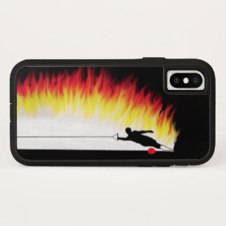 Capa Para iPhone X Esquiador da água do slalom com caso do iPhone X