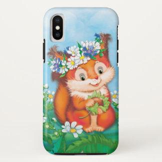 Capa Para iPhone X Esquilo